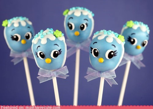 birds cake cake pops epicute hats - 6234500352