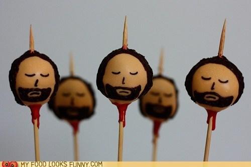 beheaded Blood cake pops Game of Thrones gross head ned stark pike - 6234502400