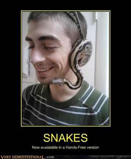 hands free,headphones,hilarious,snakes
