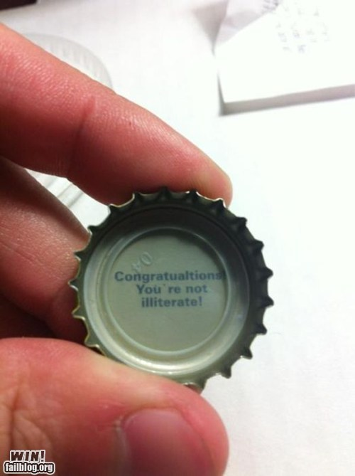 bottle cap,clever,literacy,true facts,trufax