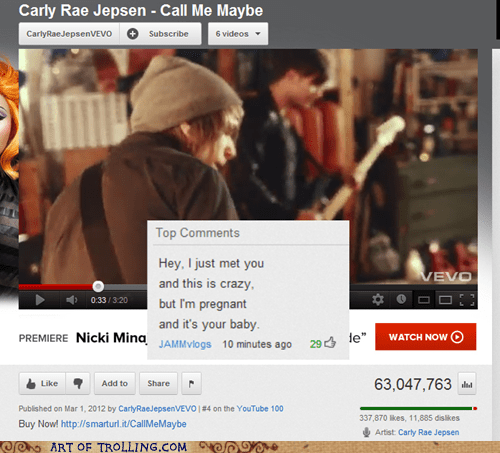 call me maybe,carly rae jespen,pregnancy,youtube