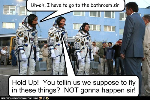 Hold Up! You tellin us we suppose to fly in these things? NOT gonna happen sir! Uh-oh, I have to go to the bathroom sir.