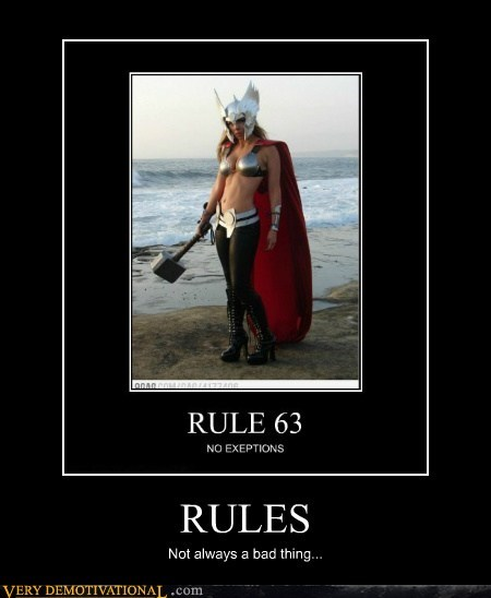 63 cosplay Pure Awesome rules Sexy Ladies Thor - 6235593472