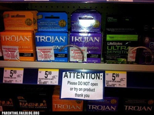 attention,condoms,trojan