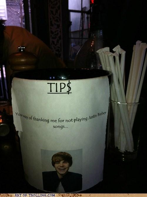 IRL justin bieber Music tip jar tips - 6235846656