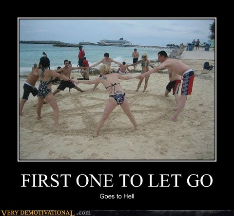 goes to hell,hilarious,let go,pentagram