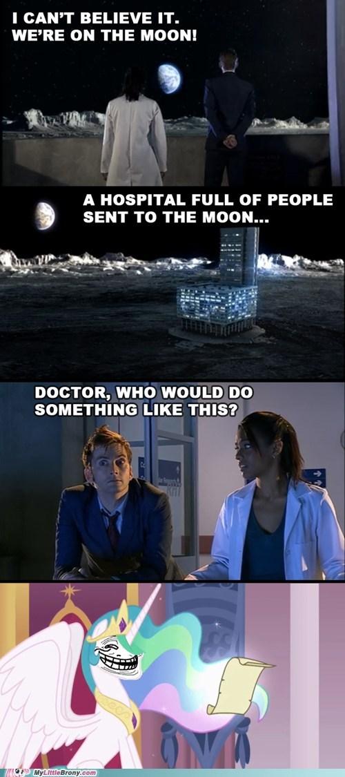 bananas banished celestia comics doctor who the moon - 6236311040