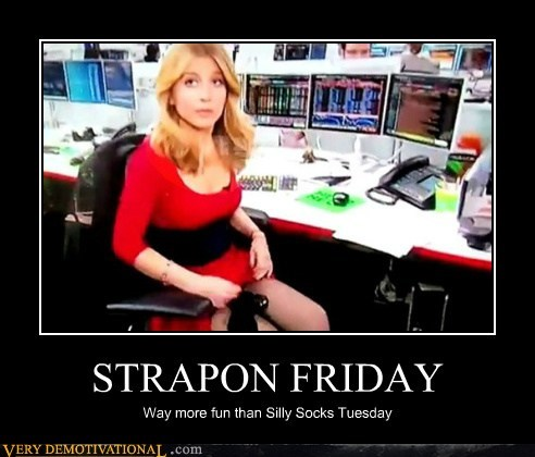 FRIDAY hilarious socks strap on work wtf - 6236349952