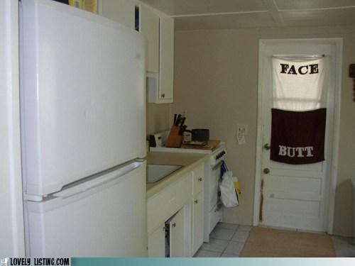 butt curtain door face kitchen towel window - 6236445952