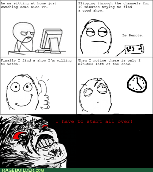 channel surfing Rage Comics raisin rage TV