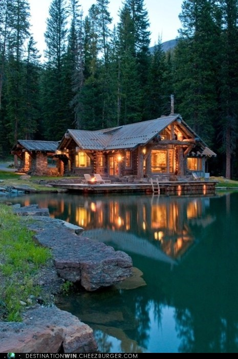 cabin lake retreat - 6236834816