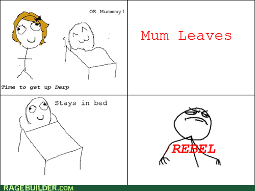 parenting,Rage Comics,rebel,sleeping