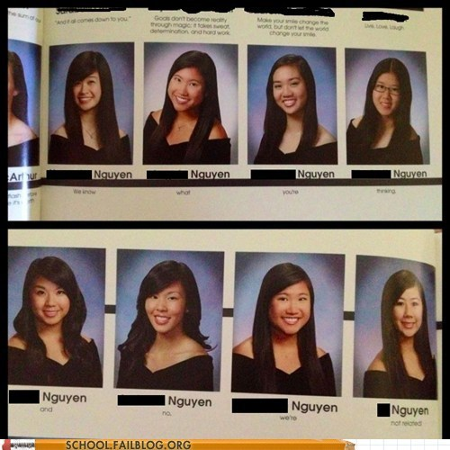 asians nguyens not related yearbooks