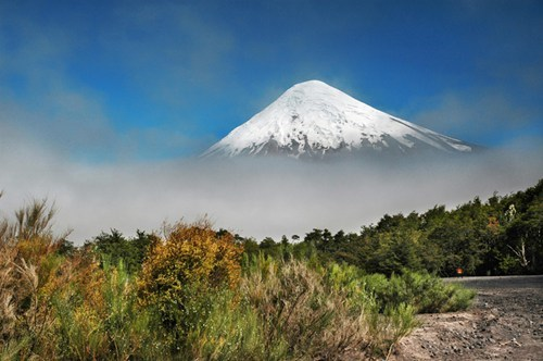 Chile,clouds,mountain,volcano