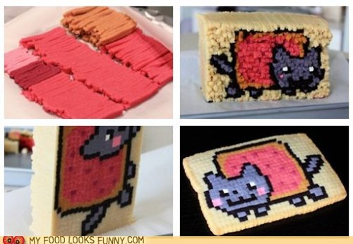 cookies,Nyan Cat,pixels,sweets