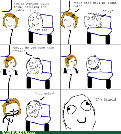 drive through FAIL pick-up lines Rage Comics - 6237524224