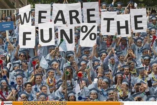 graduation,too optimistic,unemployment,we are the fun percent