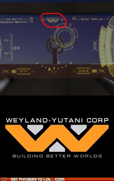 Aliens best of the week crossover easter egg Firefly Joss Whedon logo serenity weyland-yutani - 6238005504