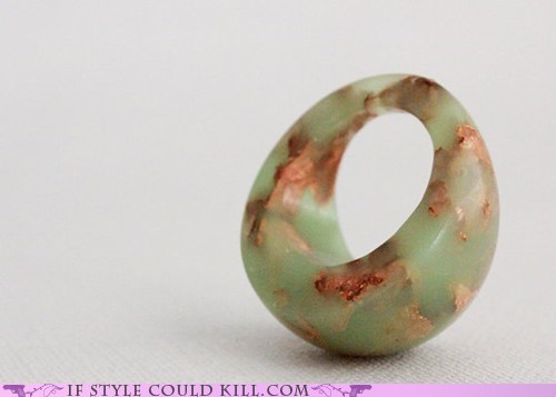 cool accessories copper resin ring of the day rings - 6238012416
