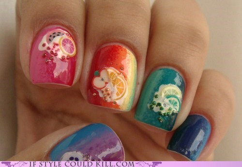best of the week cool accessories fruit nail art nails rainbows - 6238102272