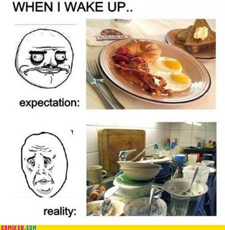 breakfast,dishes,expectation vs reality,the internets