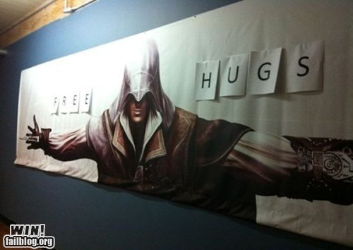 assassins creed,hug,nerdgasm,video game