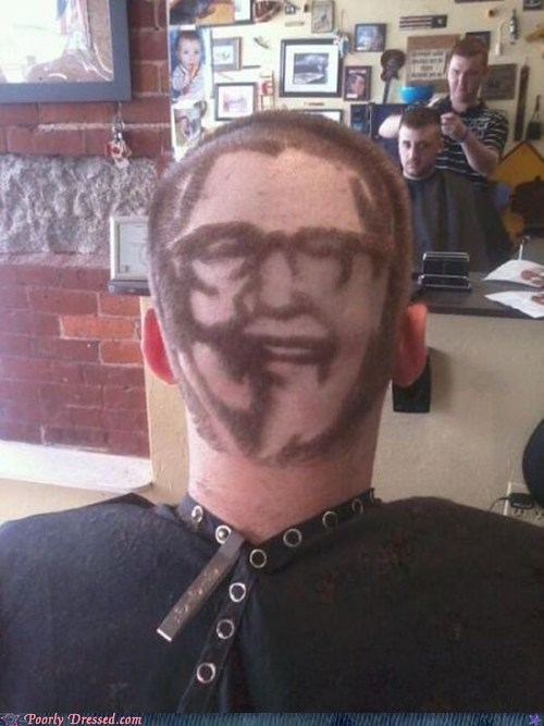 colonel sanders,fade,haircut,kfc
