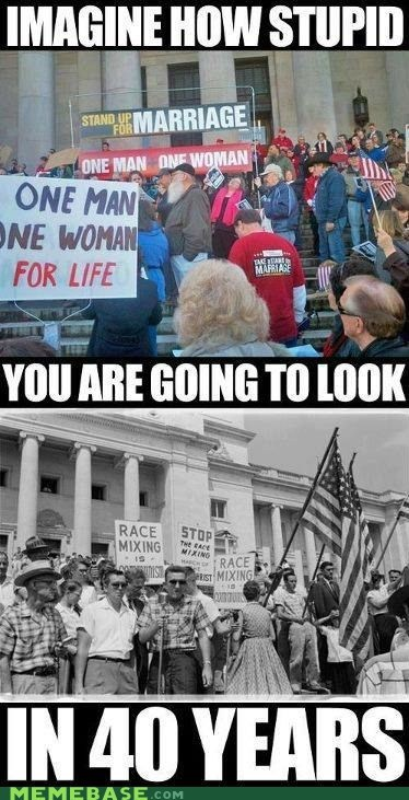 gay marriage Memes racism stupid the future - 6238256128