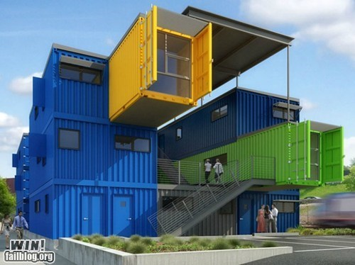 architecture,design,Office,shipping container