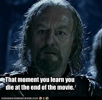 bernard hill confused die end moment Movie Sad Theoden - 6238331904