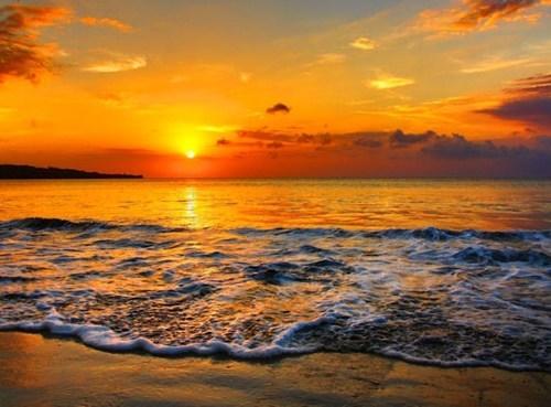 beach indonesia island ocean sunrise - 6238393344