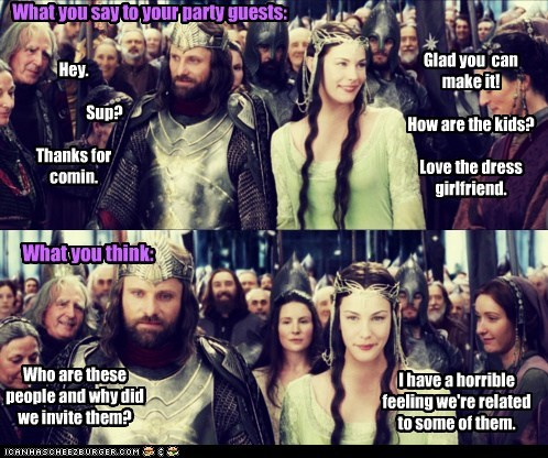 aragorn,elves,eowyn,liv tyler,Lord of The Ring,Lord of the Rings,Party,strider,thinking,viggo mortensen,what you said,who-are-these-people