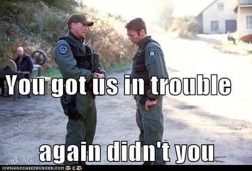 again daniel jackson in trouble jack-oneil michael shanks Richard Dean Anderson scolding - 6238460416
