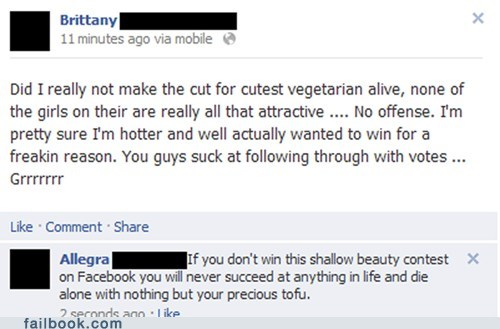 beauty contest tofu vegetarian