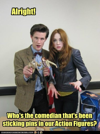 action figures,amy pond,comedian,doctor who,karen gillan,Matt Smith,pins,the doctor,toys,voodoo doll