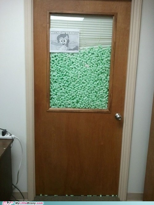 IRL Office packing peanuts pinkie pie prank - 6238705152
