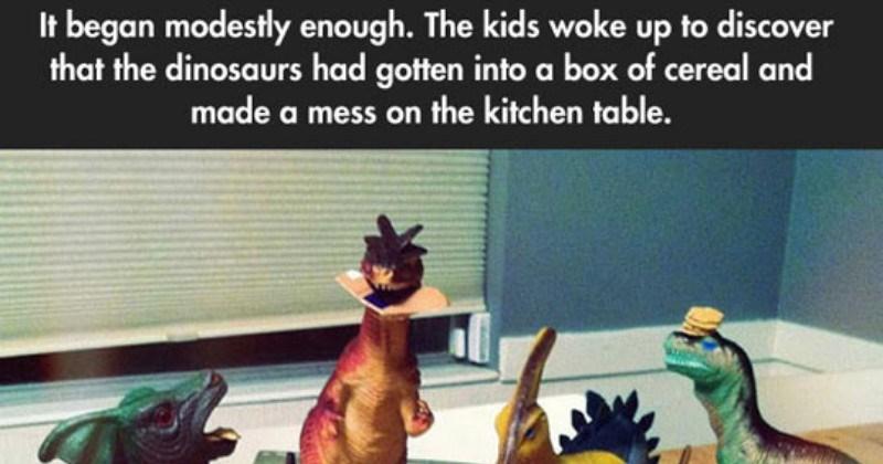 action figures parenting plastic dinosaurs parents - 6238725