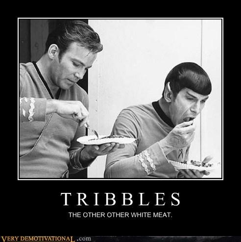 food,hilarious,kirk,Spock,tribbles