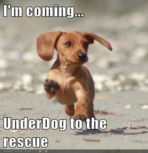 I'm coming... UnderDog to the rescue