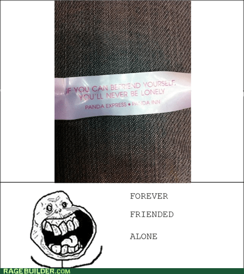 forever alone friends lonely Rage Comics - 6239087616
