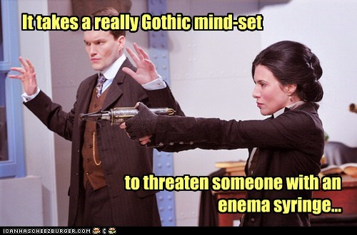 enema gothic h-g-wells jaime murray mindset syringe threat warehouse 13