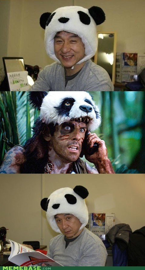 ben stiller full retard Jackie Chan Memes panda tropical thunder - 6239785984