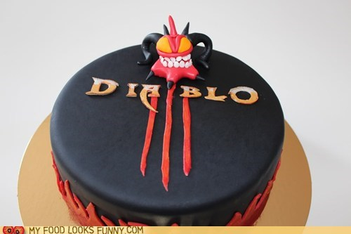 black diablo III fondant video game