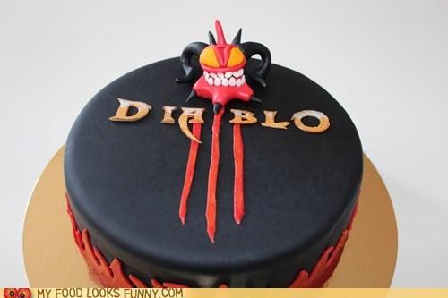 black diablo III fondant video game - 6240019712
