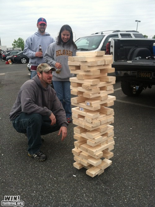 design,DIY,game,jenga,tailgate