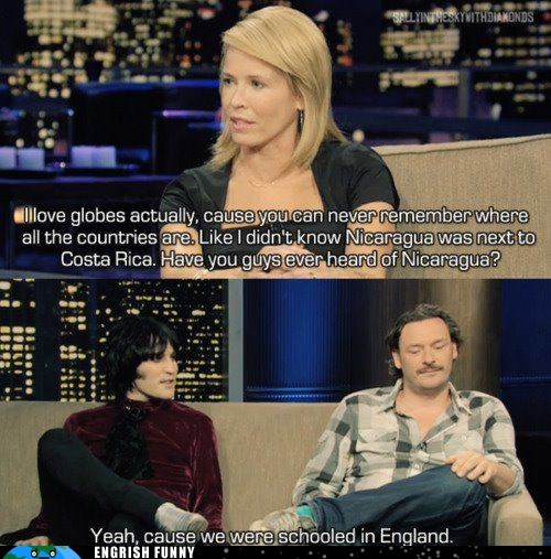 chelsea handler,chelsea lately,costa rica,england,nicaragua,schooled in england