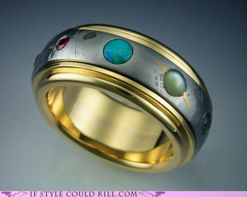 cool accessories meteorite planets rin of the day rings - 6240353280