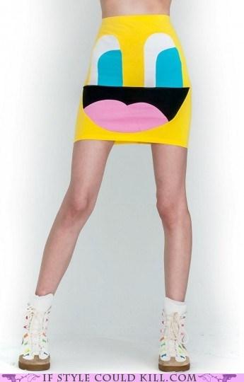 cartoons cool accessories skirts smiley weird - 6240392448