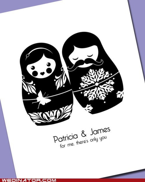 funny wedding photos invitation matroyshka - 6240457984