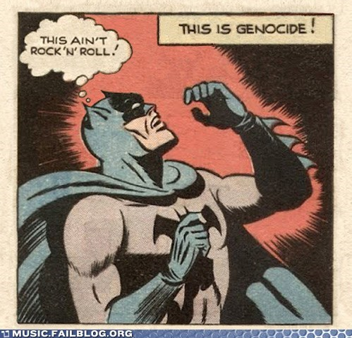 batman comics genocide rock n roll